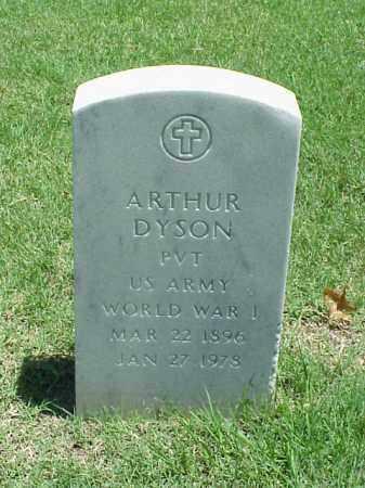 DYSON (VETERAN WWI), ARTHUR - Pulaski County, Arkansas   ARTHUR DYSON (VETERAN WWI) - Arkansas Gravestone Photos