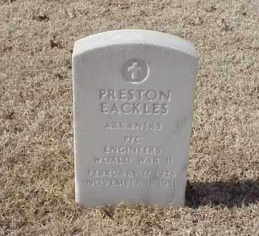 EACKLES (VETERAN WWII), PRESTON - Pulaski County, Arkansas   PRESTON EACKLES (VETERAN WWII) - Arkansas Gravestone Photos