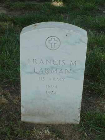EAKMAN (VETERAN WWI), FRANCIS M - Pulaski County, Arkansas   FRANCIS M EAKMAN (VETERAN WWI) - Arkansas Gravestone Photos
