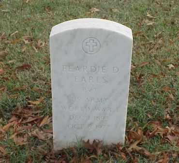 EARLS (VETERAN WWI), FEAEDIE D - Pulaski County, Arkansas   FEAEDIE D EARLS (VETERAN WWI) - Arkansas Gravestone Photos
