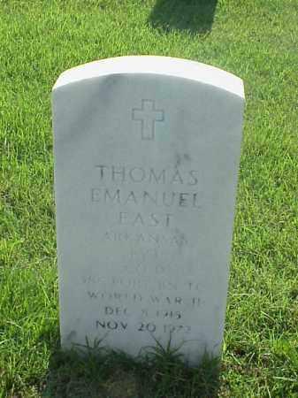 EAST (VETERAN WWII), THOMAS EMANUEL - Pulaski County, Arkansas | THOMAS EMANUEL EAST (VETERAN WWII) - Arkansas Gravestone Photos