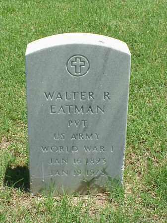 EATMAN (VETERAN WWI), WALTER R - Pulaski County, Arkansas   WALTER R EATMAN (VETERAN WWI) - Arkansas Gravestone Photos