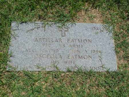 EATMON (VETERAN WWII), ARTILLAR - Pulaski County, Arkansas | ARTILLAR EATMON (VETERAN WWII) - Arkansas Gravestone Photos