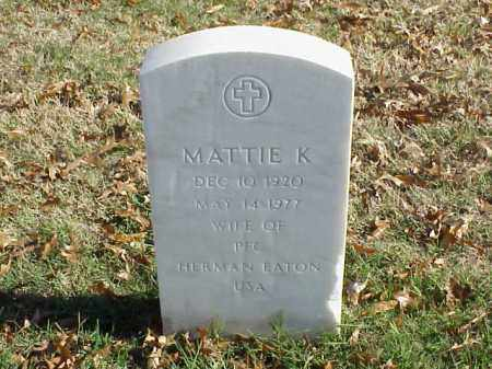 EATON, MATTIE K - Pulaski County, Arkansas   MATTIE K EATON - Arkansas Gravestone Photos