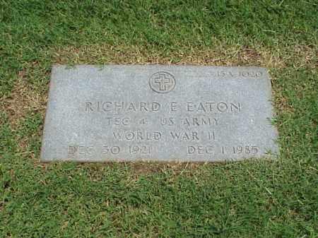 EATON (VETERAN WWII), RICHARD E - Pulaski County, Arkansas   RICHARD E EATON (VETERAN WWII) - Arkansas Gravestone Photos