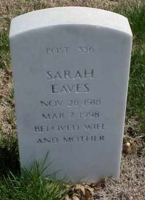 EAVES, SARAH - Pulaski County, Arkansas | SARAH EAVES - Arkansas Gravestone Photos
