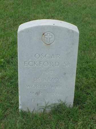 ECKFORD, SR (VETERAN WWI), OSCAR - Pulaski County, Arkansas | OSCAR ECKFORD, SR (VETERAN WWI) - Arkansas Gravestone Photos