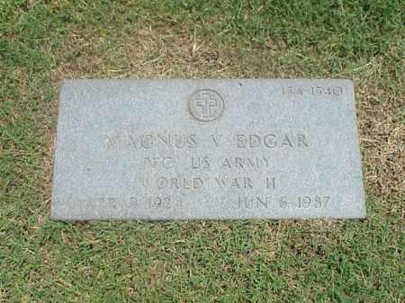 EDGAR (VETERAN WWII), MAGNUS V - Pulaski County, Arkansas   MAGNUS V EDGAR (VETERAN WWII) - Arkansas Gravestone Photos