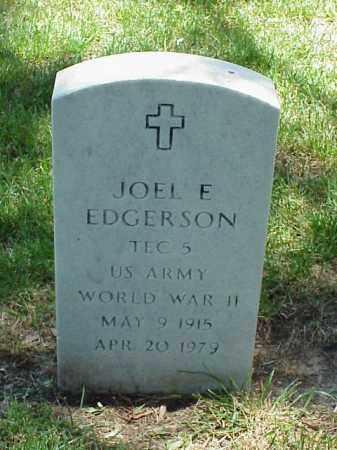 EDGERSON (VETERAN WWII), JOEL E - Pulaski County, Arkansas   JOEL E EDGERSON (VETERAN WWII) - Arkansas Gravestone Photos