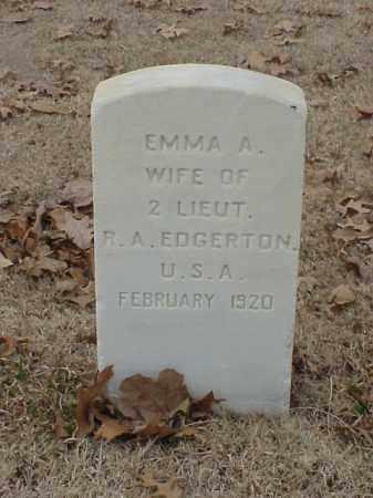 EDGERTON, EMMA A - Pulaski County, Arkansas | EMMA A EDGERTON - Arkansas Gravestone Photos