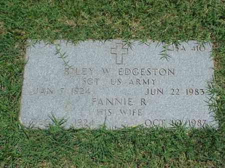 EDGESTON, FANNIE R. - Pulaski County, Arkansas   FANNIE R. EDGESTON - Arkansas Gravestone Photos