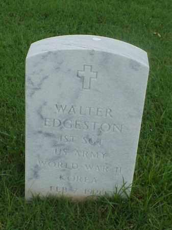 EDGESTON (VETERAN 2 WARS), WALTER - Pulaski County, Arkansas | WALTER EDGESTON (VETERAN 2 WARS) - Arkansas Gravestone Photos