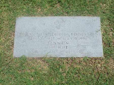 EDGESTON, SR (VETERAN KOR), RUDOLPH ATTODIUS - Pulaski County, Arkansas | RUDOLPH ATTODIUS EDGESTON, SR (VETERAN KOR) - Arkansas Gravestone Photos