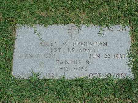 EDGESTON (VETERAN WWII), RILEY W - Pulaski County, Arkansas | RILEY W EDGESTON (VETERAN WWII) - Arkansas Gravestone Photos