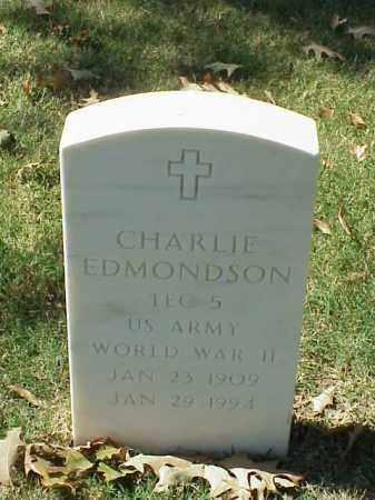 EDMONDSON (VETERAN WWII), CHARLIE - Pulaski County, Arkansas | CHARLIE EDMONDSON (VETERAN WWII) - Arkansas Gravestone Photos