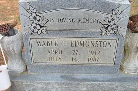EDMONSTON, MABLE I. - Pulaski County, Arkansas   MABLE I. EDMONSTON - Arkansas Gravestone Photos