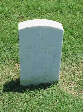 EDWARDS (VETERAN WWII), CHARLES D - Pulaski County, Arkansas   CHARLES D EDWARDS (VETERAN WWII) - Arkansas Gravestone Photos