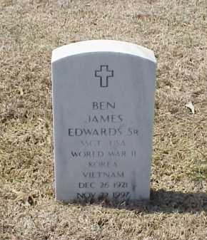 EDWARDS, SR (VETERAN 3 WARS), BEN JAMES - Pulaski County, Arkansas | BEN JAMES EDWARDS, SR (VETERAN 3 WARS) - Arkansas Gravestone Photos