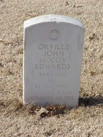EDWARDS (VETERAN KOR), ORVILLE JOHN MCCOY - Pulaski County, Arkansas | ORVILLE JOHN MCCOY EDWARDS (VETERAN KOR) - Arkansas Gravestone Photos