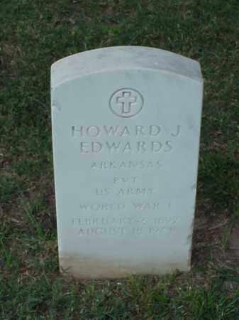 EDWARDS (VETERAN WWI), HOWARD J - Pulaski County, Arkansas | HOWARD J EDWARDS (VETERAN WWI) - Arkansas Gravestone Photos