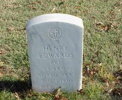 EDWARDS (VETERAN WWI), HENRY - Pulaski County, Arkansas | HENRY EDWARDS (VETERAN WWI) - Arkansas Gravestone Photos