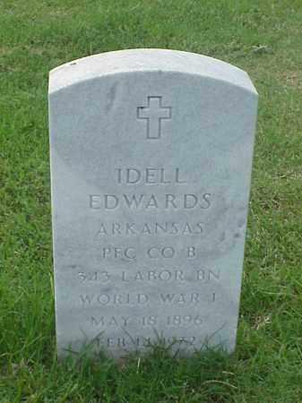 EDWARDS (VETERAN WWI), IDELL - Pulaski County, Arkansas | IDELL EDWARDS (VETERAN WWI) - Arkansas Gravestone Photos