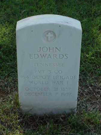 EDWARDS (VETERAN WWI), JOHN - Pulaski County, Arkansas | JOHN EDWARDS (VETERAN WWI) - Arkansas Gravestone Photos