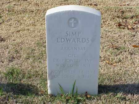 EDWARDS (VETERAN WWI), SIMP - Pulaski County, Arkansas | SIMP EDWARDS (VETERAN WWI) - Arkansas Gravestone Photos