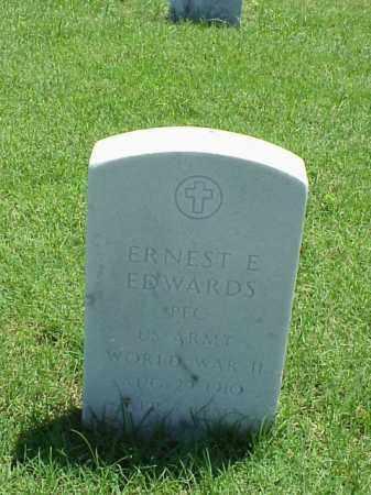EDWARDS (VETERAN WWII), ERNEST E - Pulaski County, Arkansas | ERNEST E EDWARDS (VETERAN WWII) - Arkansas Gravestone Photos