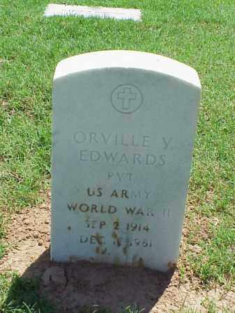 EDWARDS (VETERAN WWII), ORVILLE V - Pulaski County, Arkansas | ORVILLE V EDWARDS (VETERAN WWII) - Arkansas Gravestone Photos