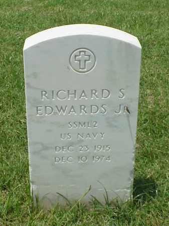 EDWARDS (VETERAN WWII), RICHARD S - Pulaski County, Arkansas   RICHARD S EDWARDS (VETERAN WWII) - Arkansas Gravestone Photos