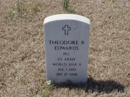 EDWARDS (VETERAN WWII), THEODORE R - Pulaski County, Arkansas | THEODORE R EDWARDS (VETERAN WWII) - Arkansas Gravestone Photos