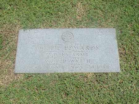 EDWARDS (VETERAN WWII), WILLIE - Pulaski County, Arkansas   WILLIE EDWARDS (VETERAN WWII) - Arkansas Gravestone Photos