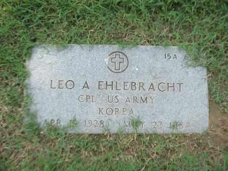EHLEBRACHT (VETERAN KOR), LEO A - Pulaski County, Arkansas | LEO A EHLEBRACHT (VETERAN KOR) - Arkansas Gravestone Photos