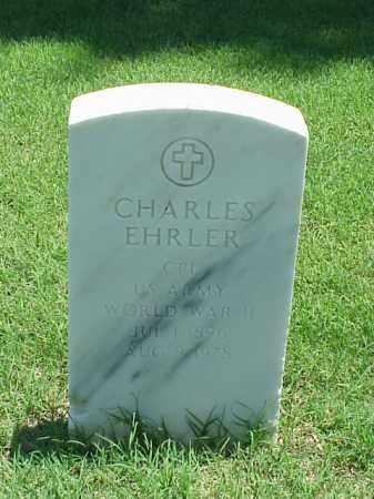 EHRLER (VETERAN WWII), CHARLES - Pulaski County, Arkansas | CHARLES EHRLER (VETERAN WWII) - Arkansas Gravestone Photos