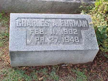 EHRMAN, CHARLES A - Pulaski County, Arkansas | CHARLES A EHRMAN - Arkansas Gravestone Photos