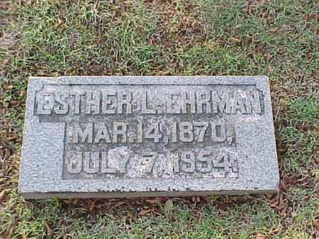 EHRMAN, ESTHER L - Pulaski County, Arkansas | ESTHER L EHRMAN - Arkansas Gravestone Photos