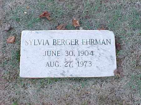 EHRMAN, SYLVIA - Pulaski County, Arkansas   SYLVIA EHRMAN - Arkansas Gravestone Photos