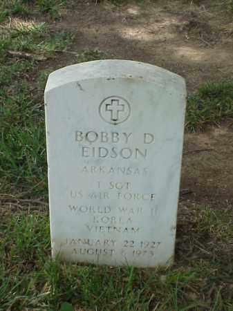 EIDSON (VETERAN 3 WARS), BOBBY D - Pulaski County, Arkansas   BOBBY D EIDSON (VETERAN 3 WARS) - Arkansas Gravestone Photos