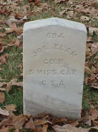 ELAM (VETERAN CSA), JOSEPH - Pulaski County, Arkansas   JOSEPH ELAM (VETERAN CSA) - Arkansas Gravestone Photos