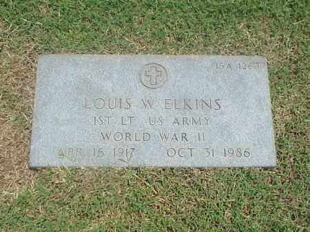 ELKINS (VETERAN WWII), LOUIS W - Pulaski County, Arkansas   LOUIS W ELKINS (VETERAN WWII) - Arkansas Gravestone Photos