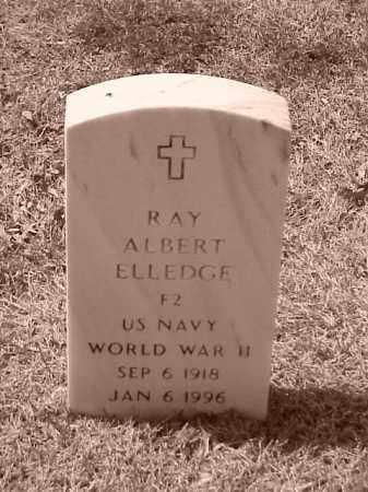 ELLEDGE (VETERAN WWII), RAY ALBERT - Pulaski County, Arkansas | RAY ALBERT ELLEDGE (VETERAN WWII) - Arkansas Gravestone Photos