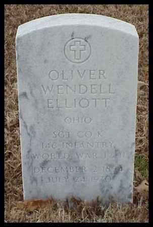 ELLIOTT (VETERAN WWII), OLIVER WENDELL - Pulaski County, Arkansas | OLIVER WENDELL ELLIOTT (VETERAN WWII) - Arkansas Gravestone Photos