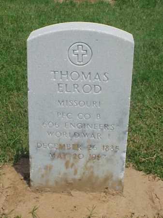 ELROD (VETERAN WWI), THOMAS - Pulaski County, Arkansas   THOMAS ELROD (VETERAN WWI) - Arkansas Gravestone Photos