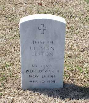 ELSTON (VETERAN WWII), JOSEPH ULLMAN - Pulaski County, Arkansas | JOSEPH ULLMAN ELSTON (VETERAN WWII) - Arkansas Gravestone Photos