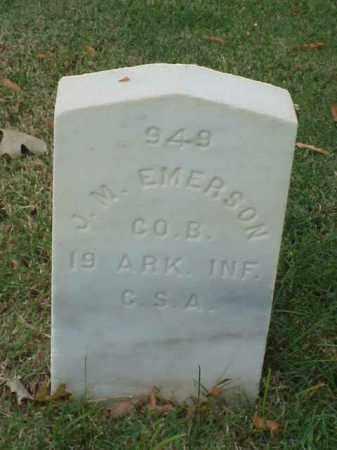 EMERSON (VETERAN CSA), J M - Pulaski County, Arkansas | J M EMERSON (VETERAN CSA) - Arkansas Gravestone Photos