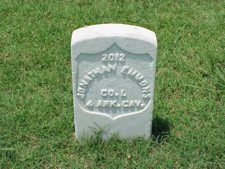 EMMONS (VETERAN UNION), JONATHAN - Pulaski County, Arkansas | JONATHAN EMMONS (VETERAN UNION) - Arkansas Gravestone Photos