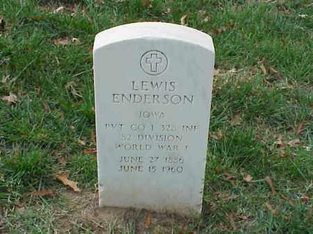 ENDERSON (VETERAN WWI), LEWIS - Pulaski County, Arkansas   LEWIS ENDERSON (VETERAN WWI) - Arkansas Gravestone Photos