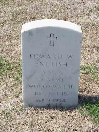 ENGLISH (VETERAN WWII), EDWARD W - Pulaski County, Arkansas | EDWARD W ENGLISH (VETERAN WWII) - Arkansas Gravestone Photos