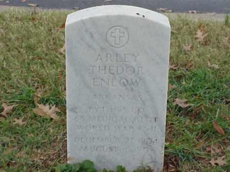 ENLOW (VETERAN 2 WARS), ARLEY THEDOR - Pulaski County, Arkansas | ARLEY THEDOR ENLOW (VETERAN 2 WARS) - Arkansas Gravestone Photos